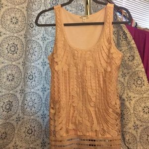 Express Beautiful embroidered tank
